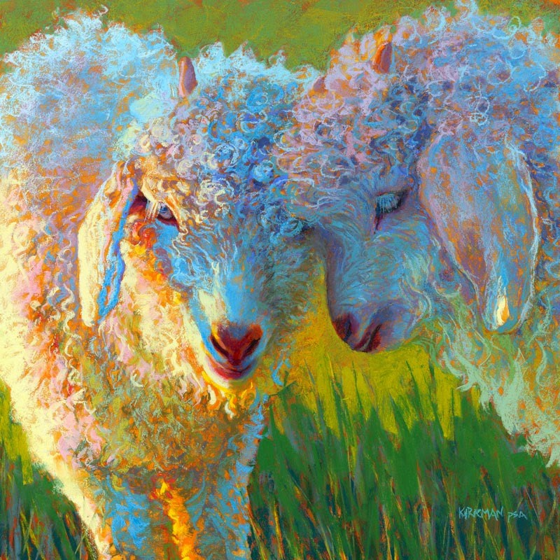 """BFF"" original fine art by Rita Kirkman"
