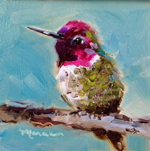 """""""Enjoying the View - SOLD"""" original fine art by Marcia Hodges"""