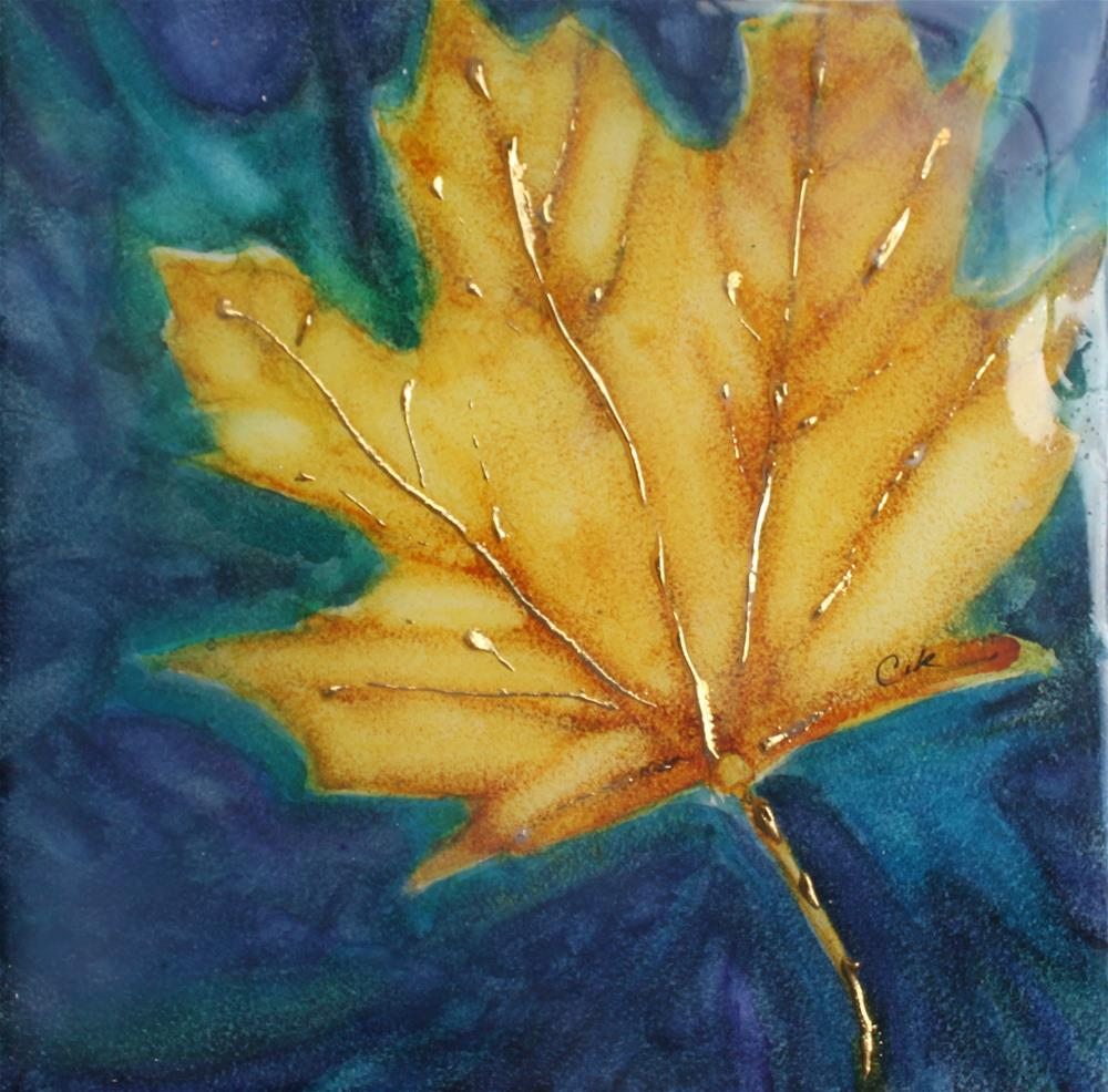 """Autumn's Gold"" original fine art by Christiane Kingsley"