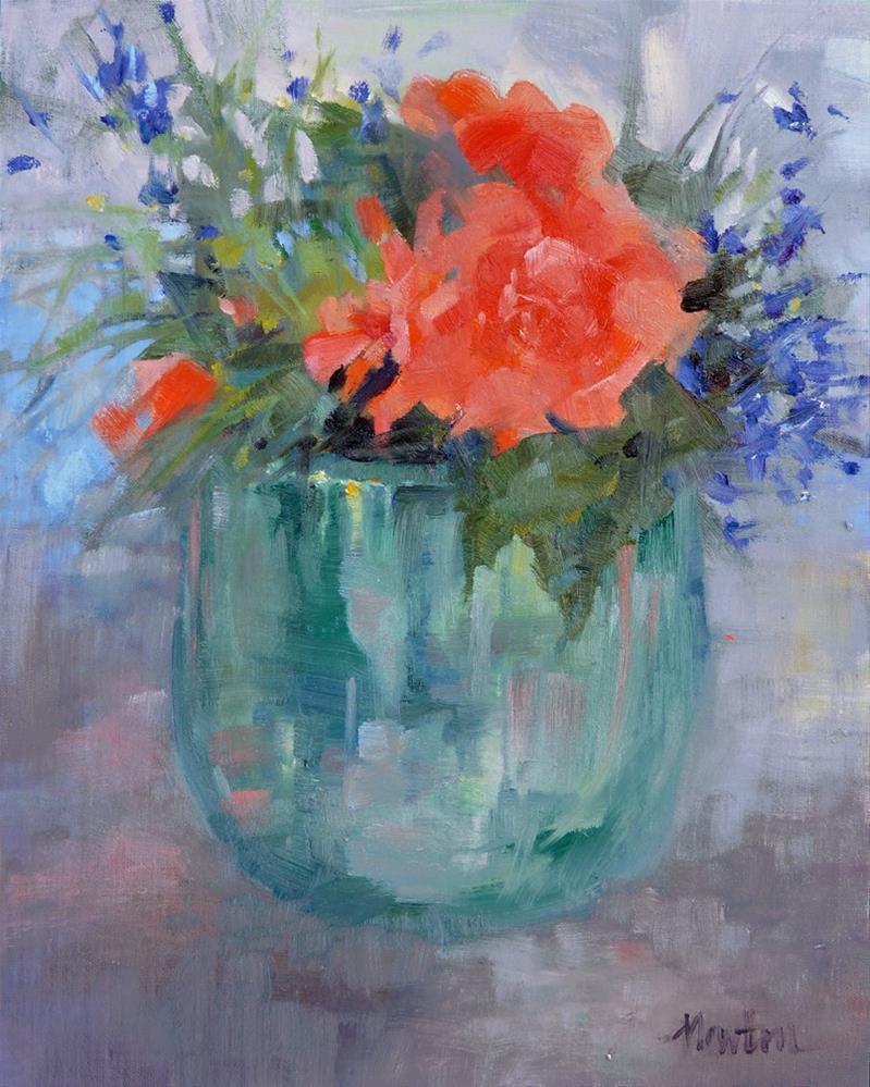 """Begonia, oil, 10x8 inches"" original fine art by Barbara Benedetti Newton"