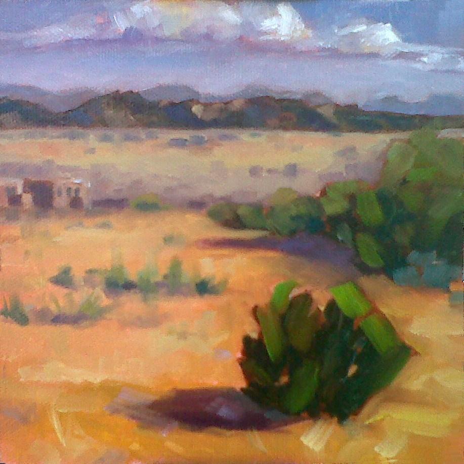 """Santa Fe High"" original fine art by Nancy Parsons"