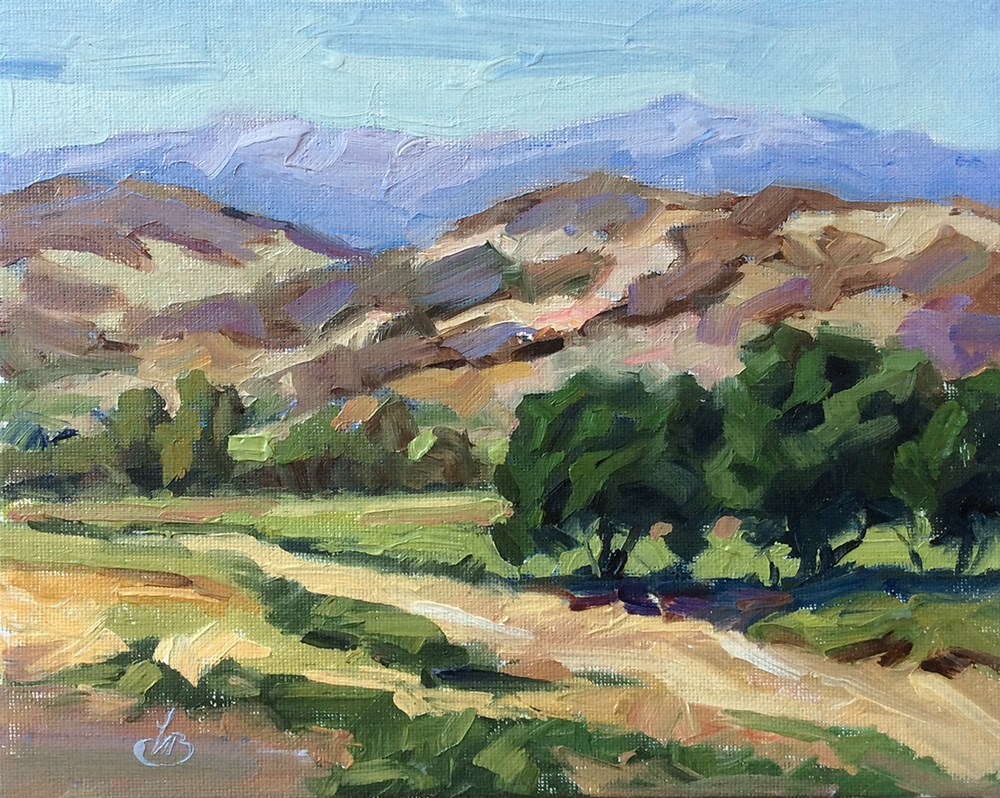 """SCENIC CALIFORNIA PLEIN AIR VISTA"" original fine art by Tom Brown"