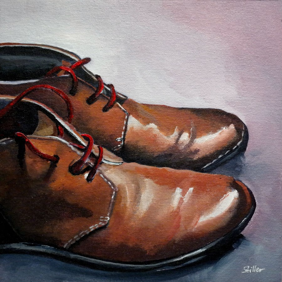 """2343 Red Shoelaces"" original fine art by Dietmar Stiller"