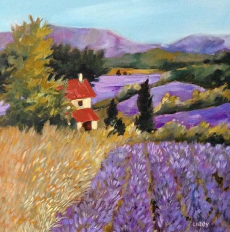"""""""Lavender Dreams"""" original fine art by Libby Anderson"""