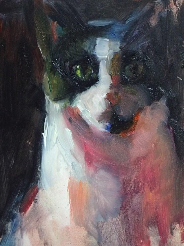 """Intense Cat Study"" original fine art by Sharon Savitz"