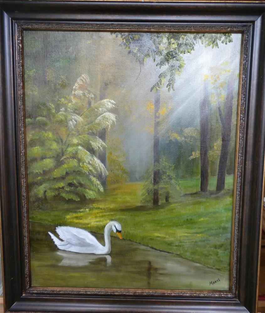 """Morning Swan"" original fine art by Marti Idlet"