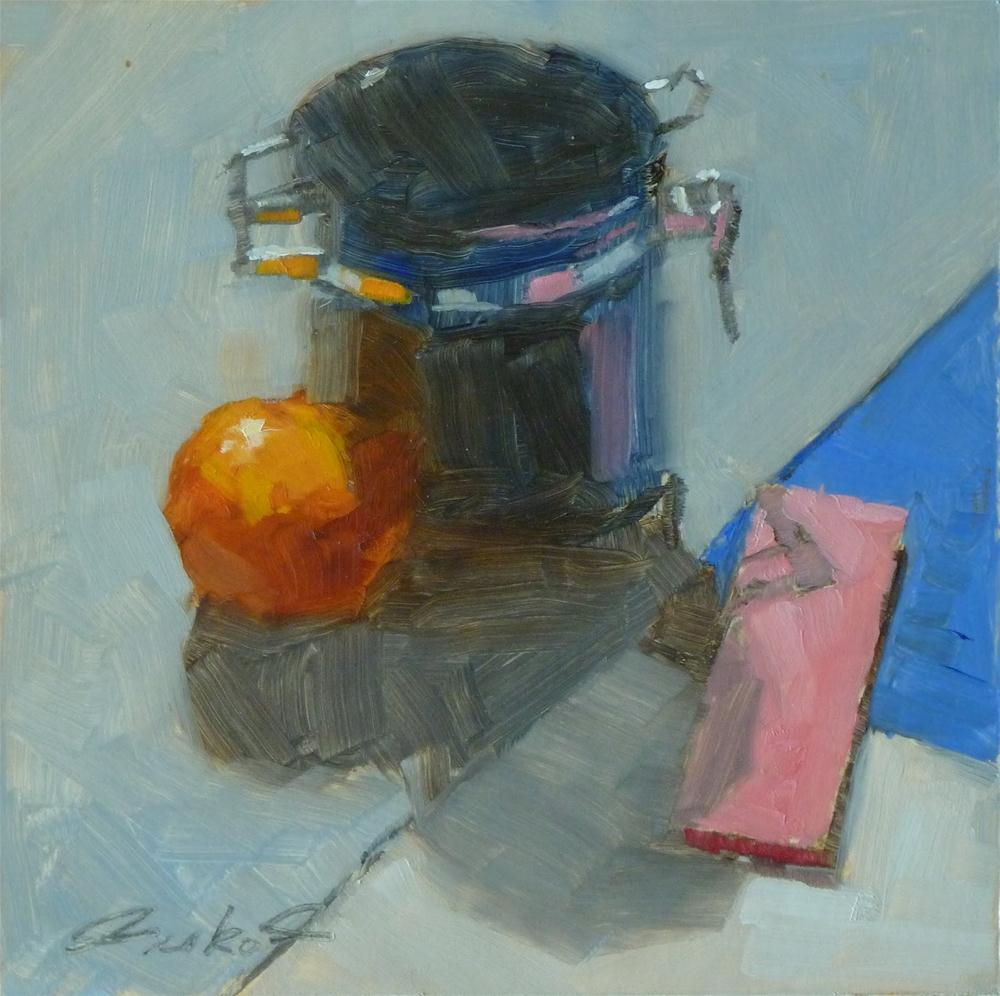 """""""Canister & Pink Post-its"""" original fine art by Ron Ferkol"""