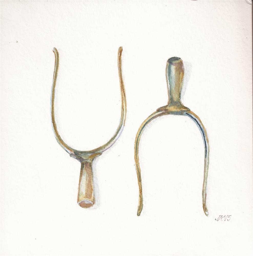 """English Spurs"" original fine art by Jean Krueger"