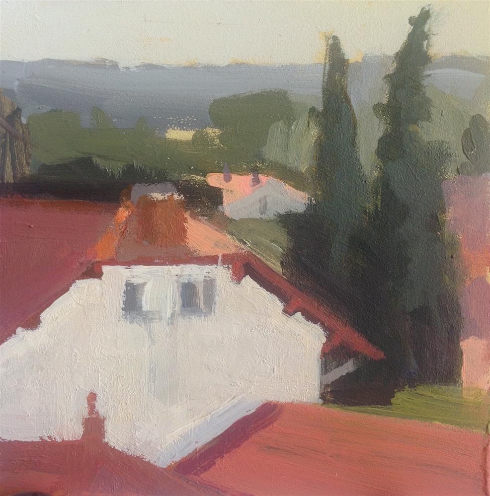 """Rooftop"" original fine art by Christine Bayle"