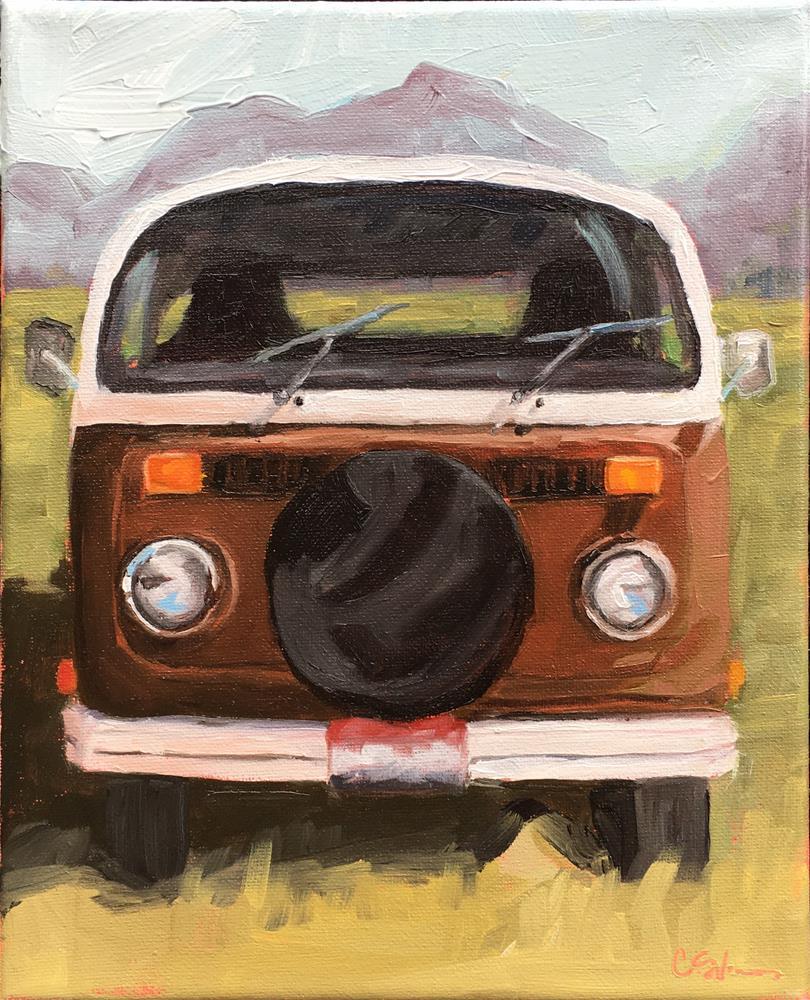 """""""Terry's Bus"""" original fine art by Corinne Slusser"""
