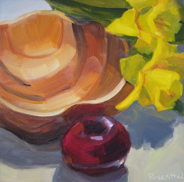 """Wooden Bowl"" original fine art by Robin Rosenthal"