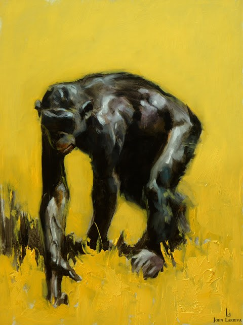 """Ape"" original fine art by John Larriva"
