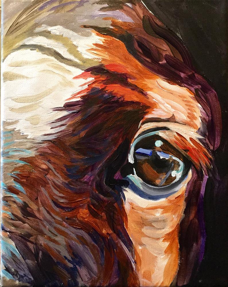 """Peeking Through"" original fine art by Lauren Kuhn"