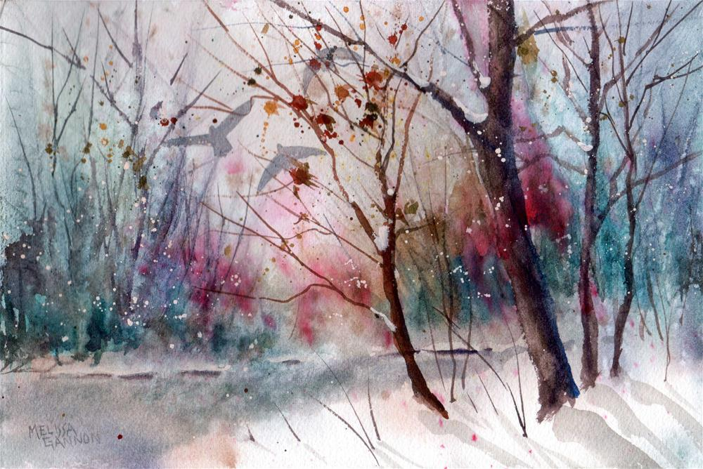 """Cold Winter Day"" original fine art by Melissa Gannon"
