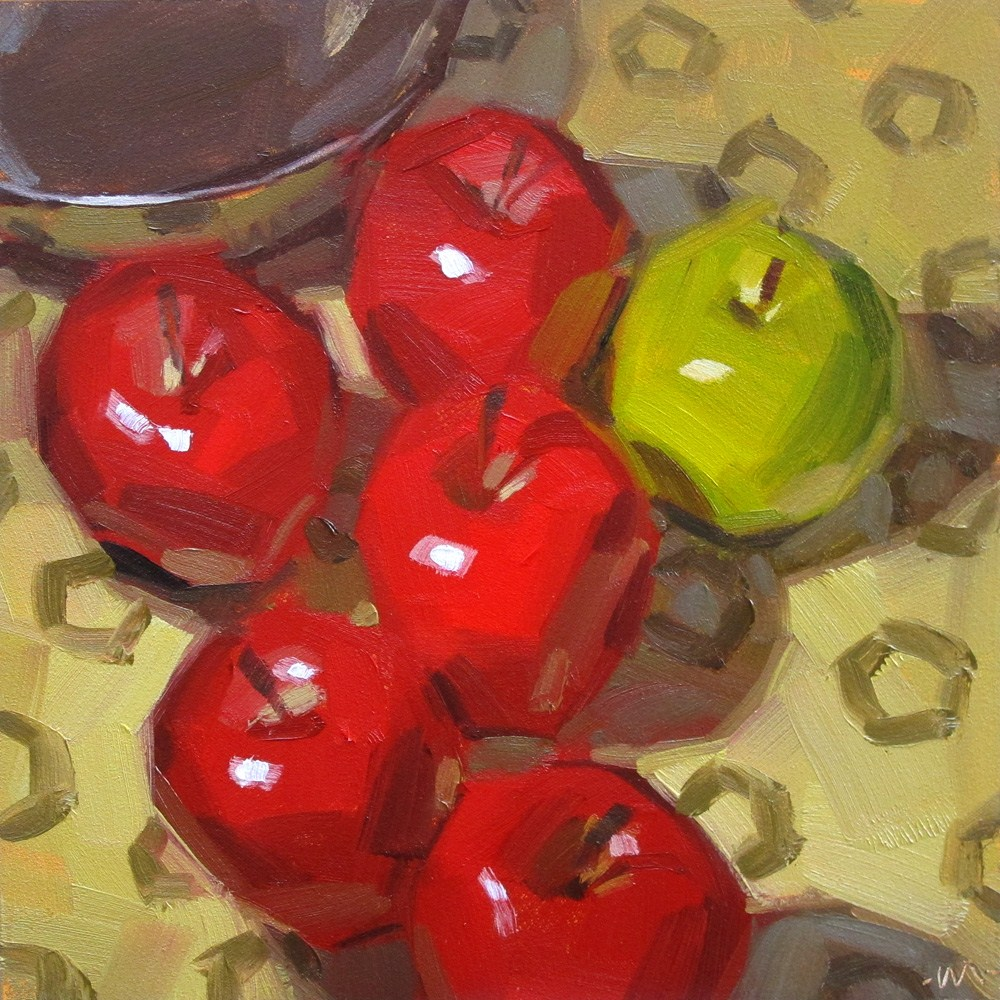 """Apple Party"" original fine art by Carol Marine"