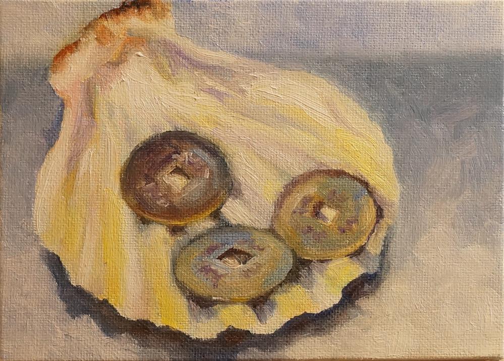 """I Ching Shell"" original fine art by Maria Levandowski"