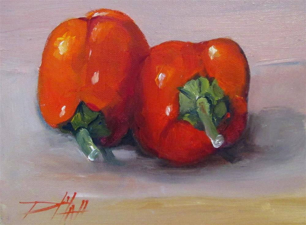 """""""Red Peppers"""" original fine art by Delilah Smith"""