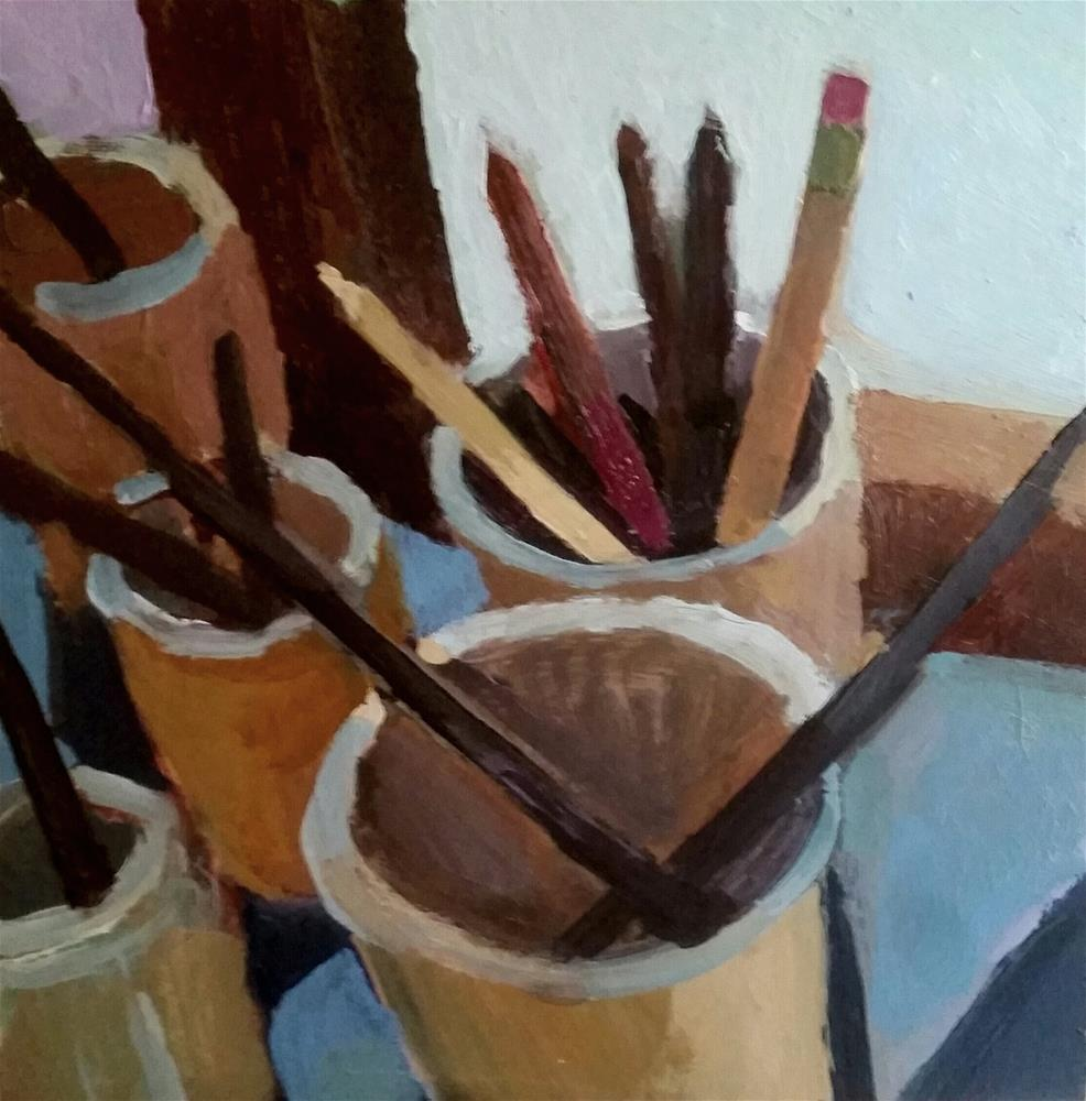 """""""Brushes and Pencils"""" original fine art by Liz Maynes"""