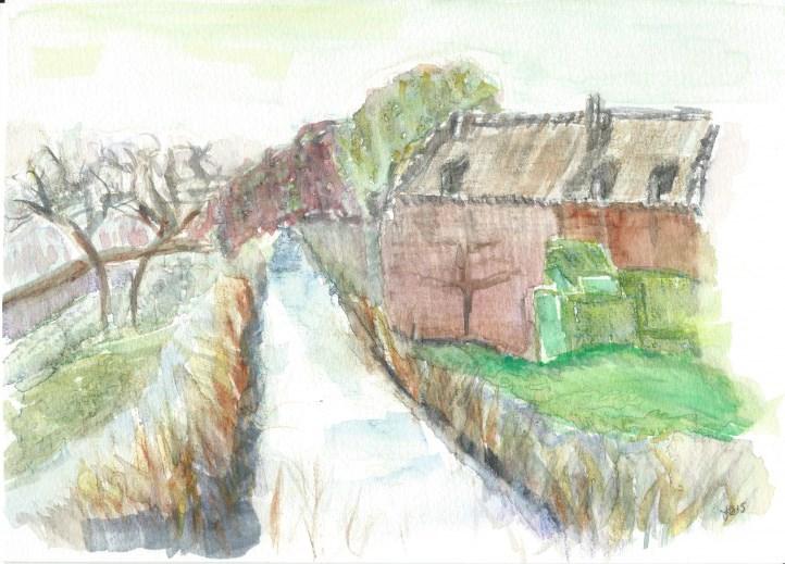 """""""Flemish Stream"""" original fine art by Laura Denning"""