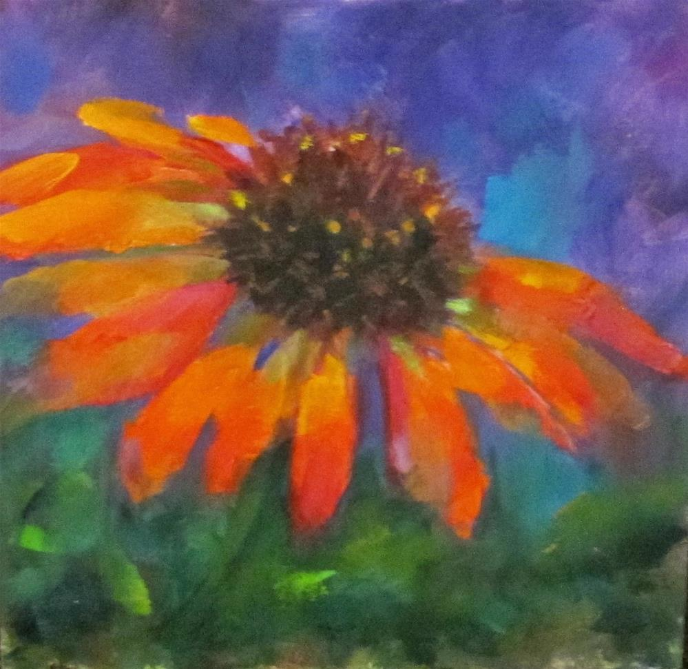 """Coneflower I"" original fine art by Linda Carney"