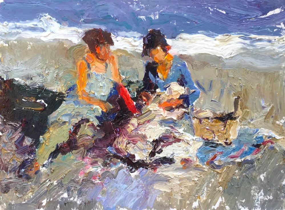 """""""Shoreline"""" original fine art by Marileigh Schulte"""