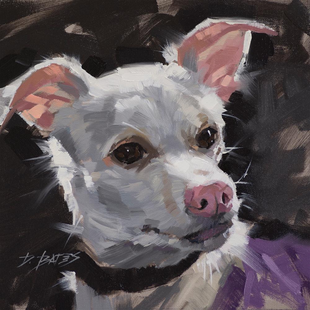 """""""Happy Pup"""" original fine art by David Bates"""