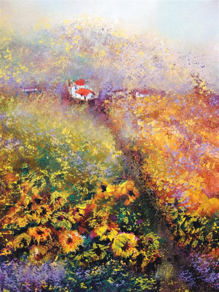 """Blazing Fields"" original fine art by Loretta Luglio"