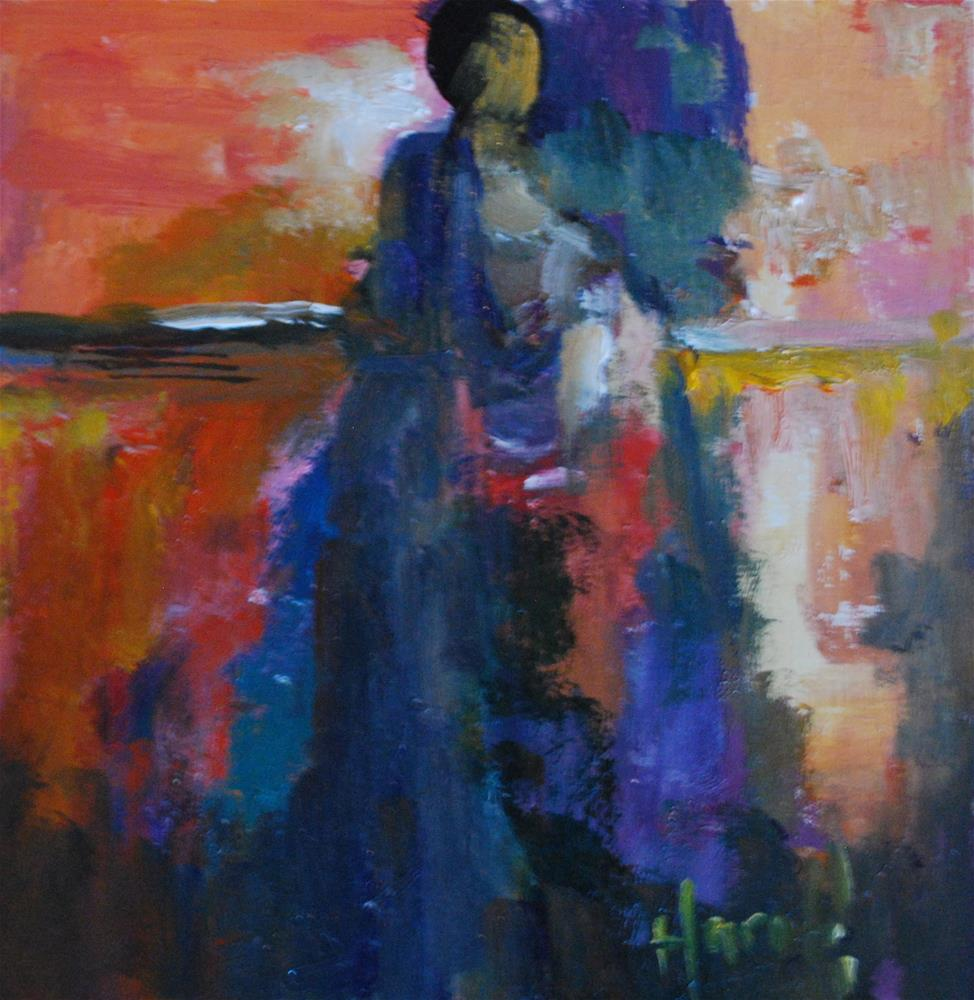 """Abstract Figure 3"" original fine art by Deborah Harold"