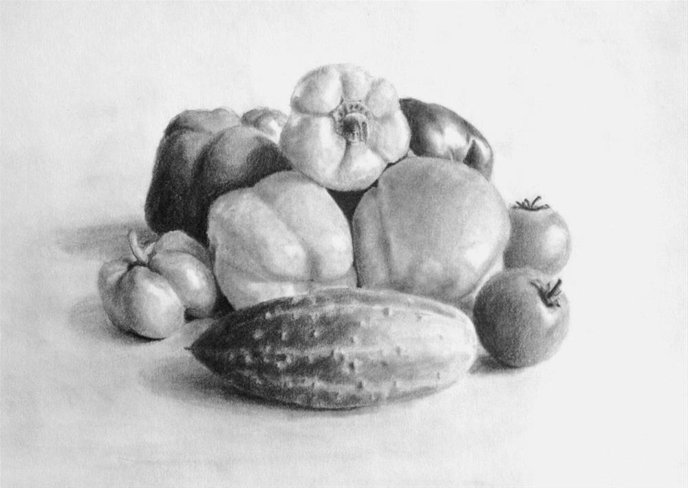 """""""My grandma's harvest"""" original fine art by Anna Starkova"""