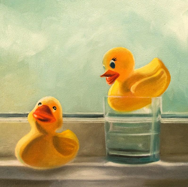 """""""Rubber Ducky Drink"""" original fine art by Lauren Pretorius"""