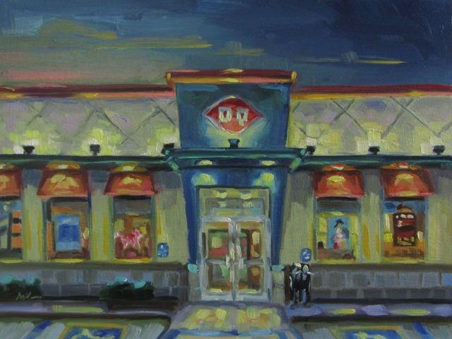 """DQ"" original fine art by Mb Warner"