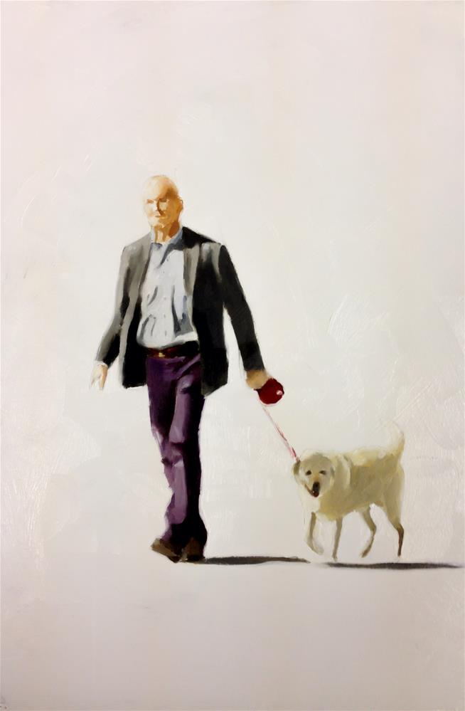 """Just Walking the Dog"" original fine art by James Coates"