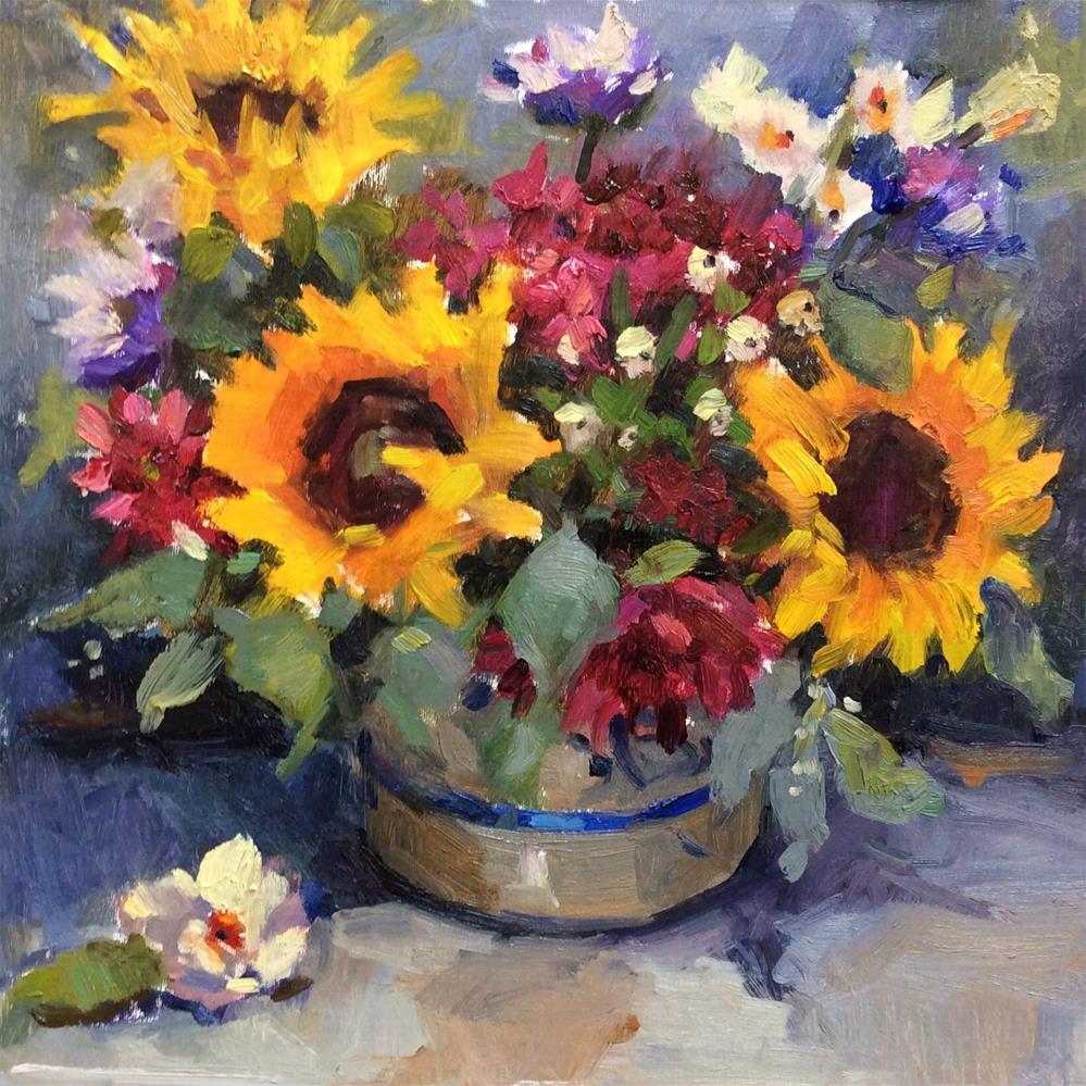"""Sunflower Surprise"" original fine art by Laurie Johnson Lepkowska"