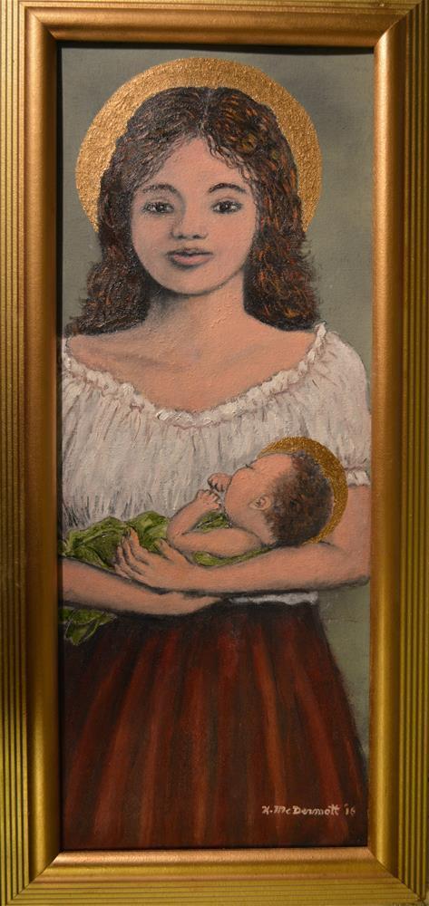 """""""Madonna of the Red Skirt"""" original fine art by Kathleen McDermott"""