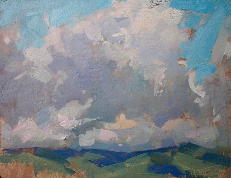 """""""Walla Walla Skies"""" original fine art by Melanie Thompson"""