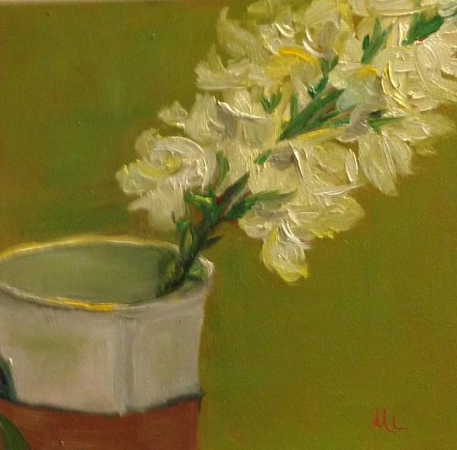 """Flowers to Go"" original fine art by Marjie Laizure"