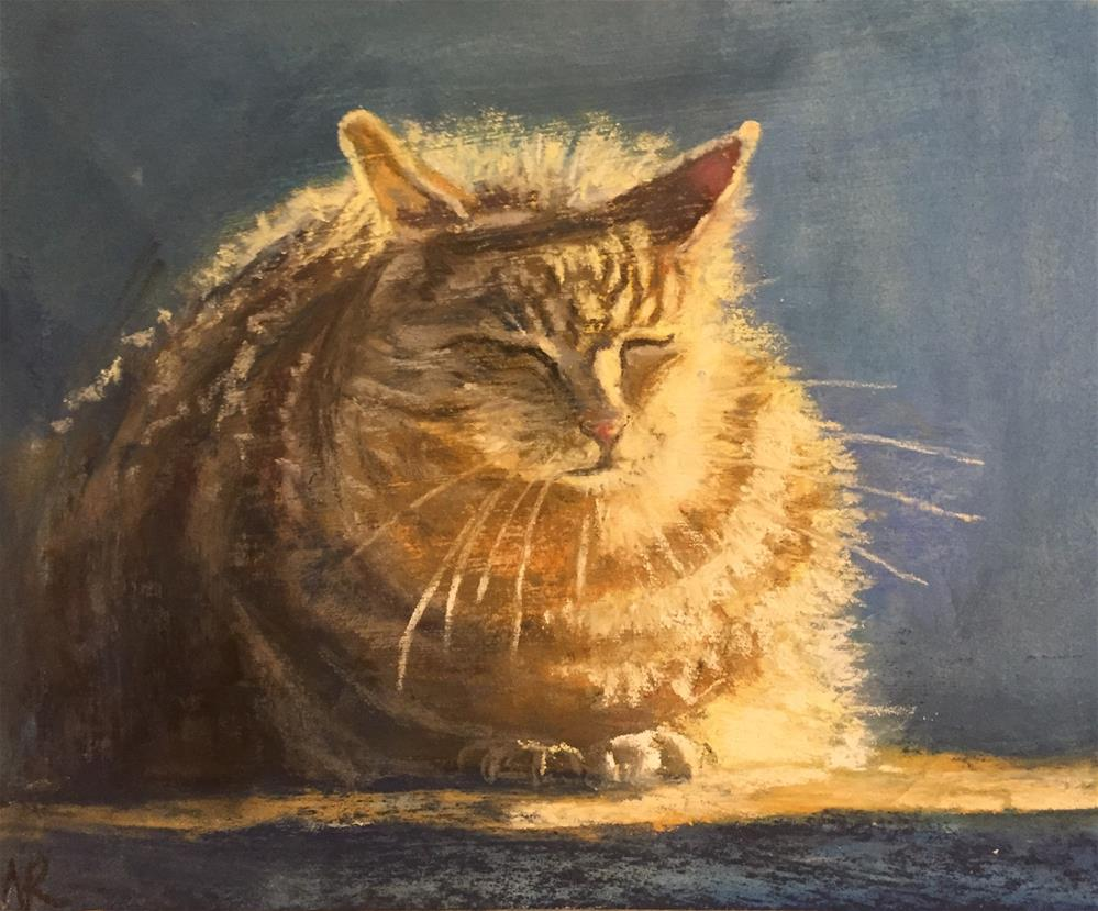 """Fatty Kitty"" original fine art by Natasha Ramras"