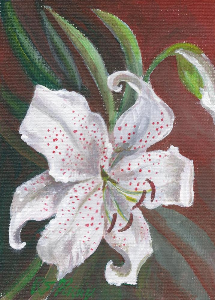 """""""Lily One"""" original fine art by R. S. Perry"""
