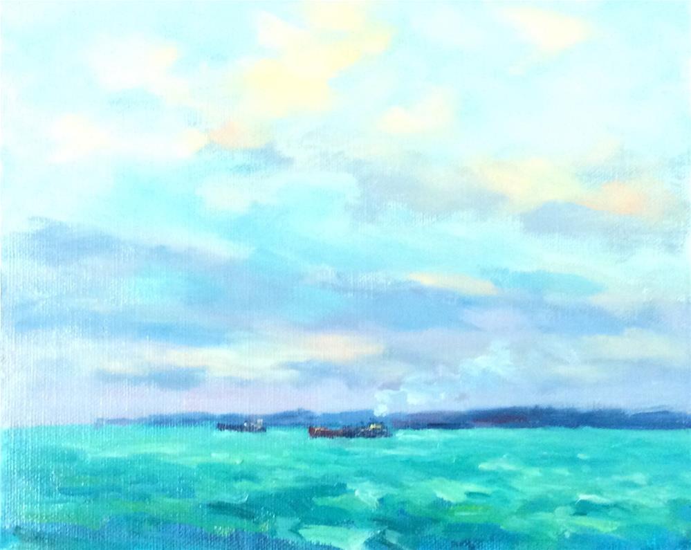 """All At Sea"" original fine art by John Shave"