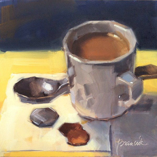 """Coffee and 27 Cents"" original fine art by Candace Brancik"