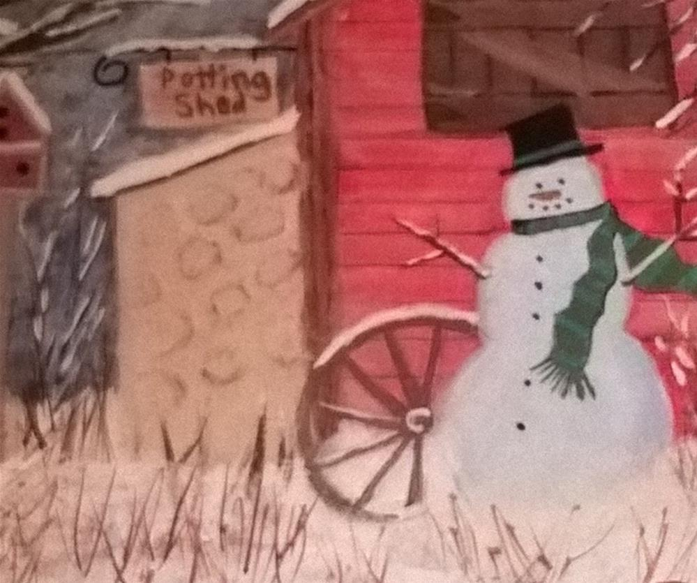 """A Country Christmas"" original fine art by Cindy Jensen"