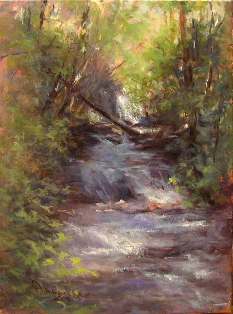 """York Falls, Third View"" original fine art by Dianne Mize"
