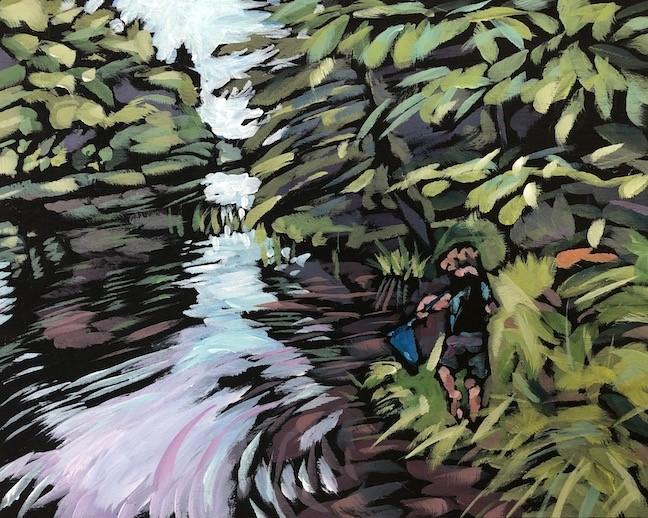 """""""Jill and Rick's River Up North"""" original fine art by Kat Corrigan"""