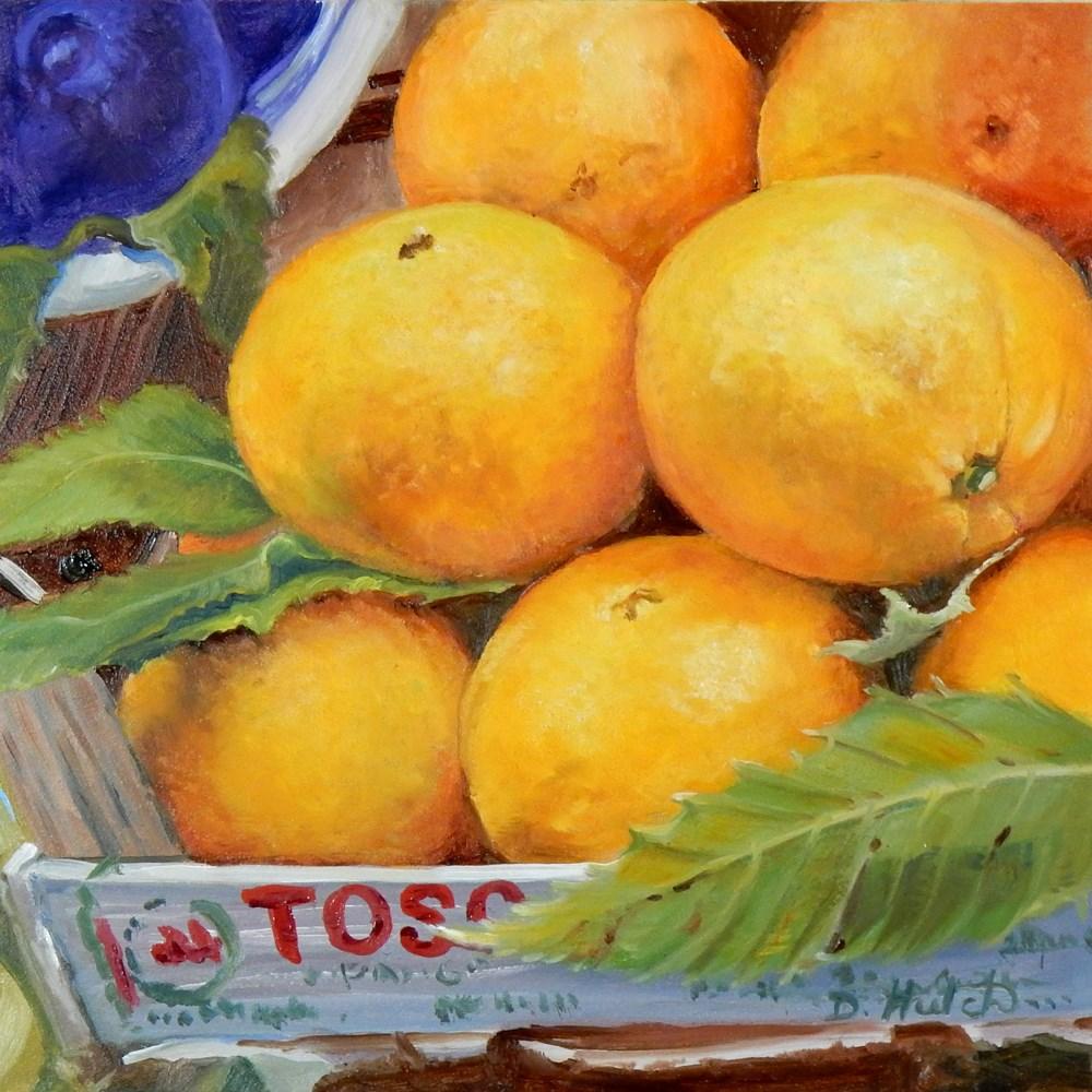 """""""Market series #1, Oranges"""" original fine art by Diane Hutchinson"""