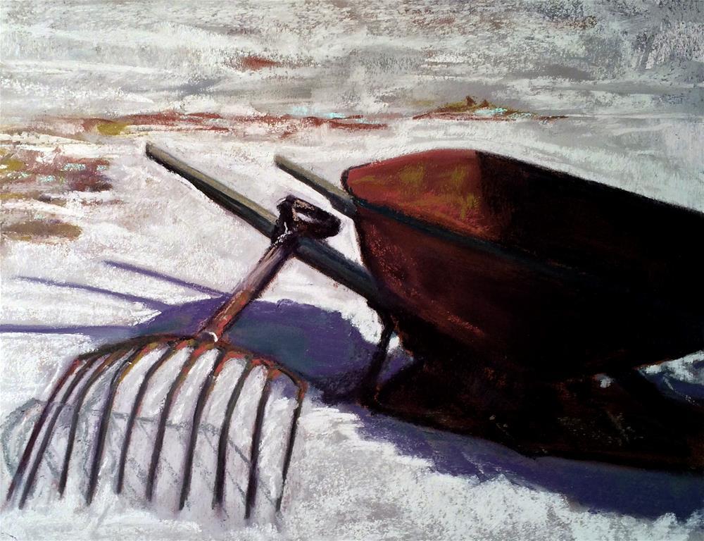 """Winter's End"" original fine art by Cristine Kossow"