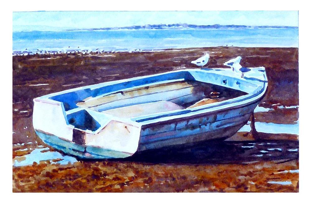 """Boat on shore"" original fine art by Graham Berry"