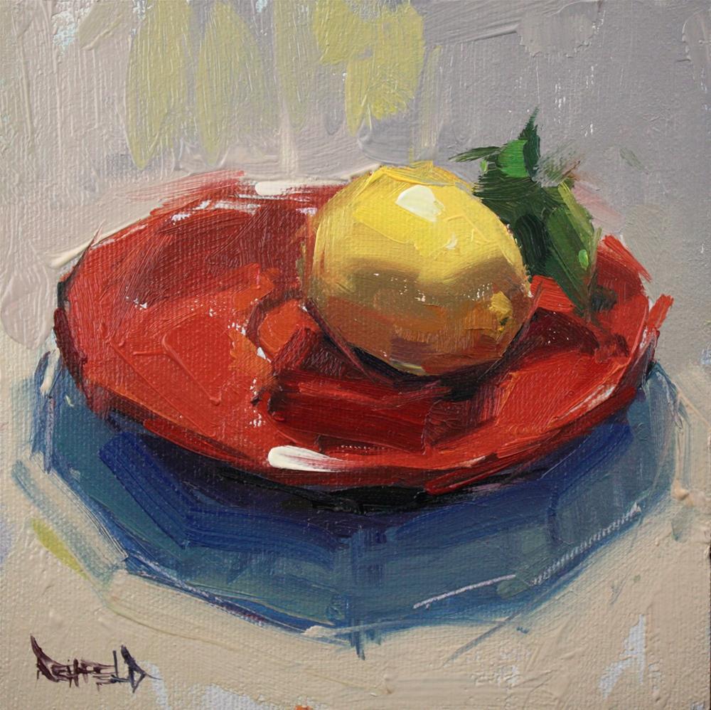 """Yvonne's Lemon"" original fine art by Cathleen Rehfeld"