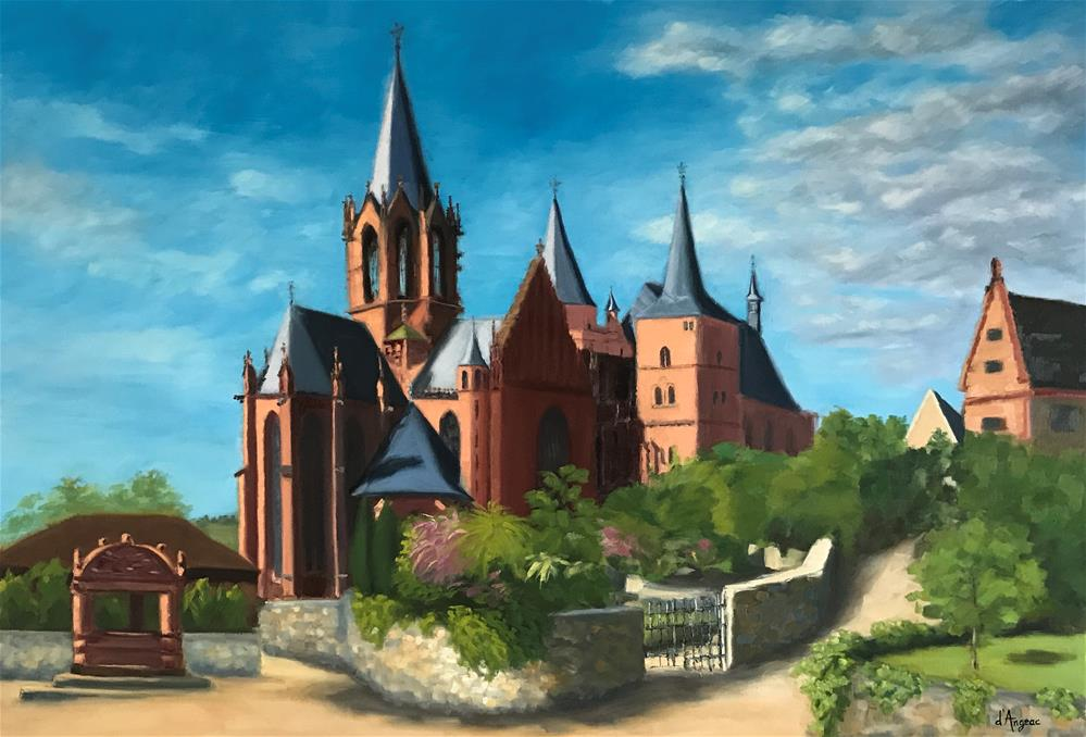 """St. Katherine, Oppenheim Germany"" original fine art by Karen D'angeac Mihm"