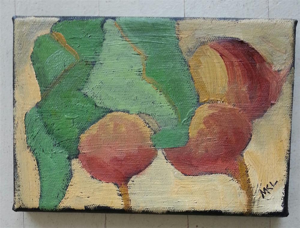 """Golden Beets II"" original fine art by Marie Lynch"