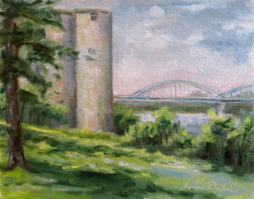 """""""Silos and Bridge in Leavenworth"""" original fine art by Tammie Dickerson"""